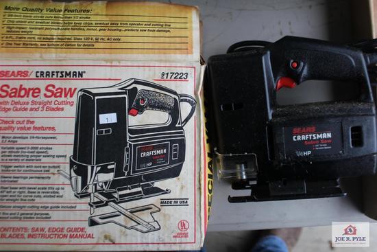 Craftsman sabre saw (NIB) w/flambeau toolbox