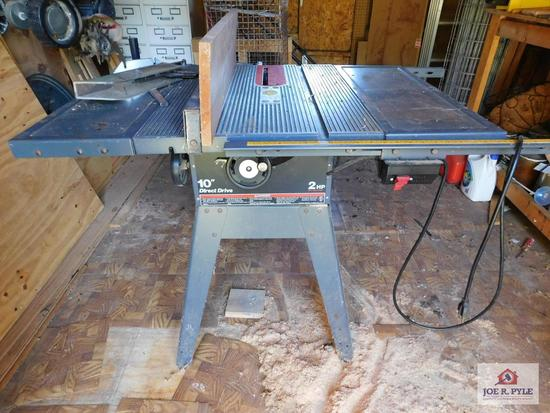 "Craftsman 10"" direct drive table saw 2 HP"