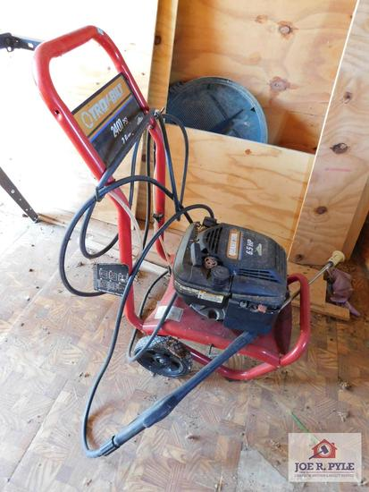 TroyBilt pressure washer 2400 PSI 6.5 HP
