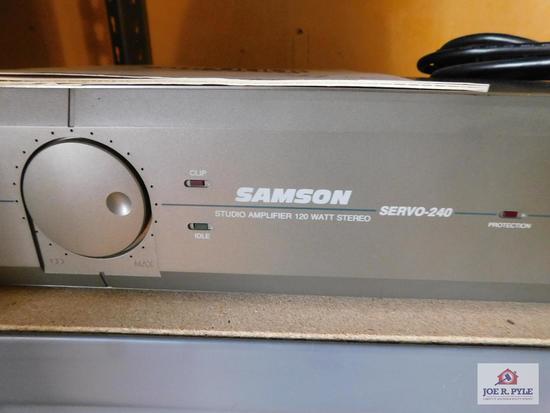 Samson studio amplifier 120-watt stereo