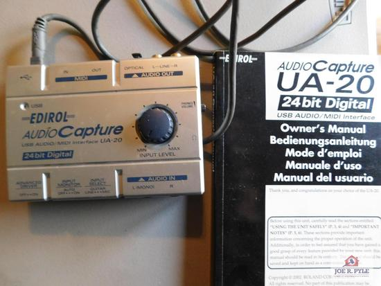 Audio capture UA-20 24 bit digital USB audio/midi interface