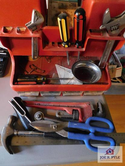 Assorted tools with carrying case