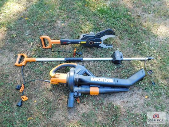 Worx jigsaw extension bar, leaf blower/vacuum