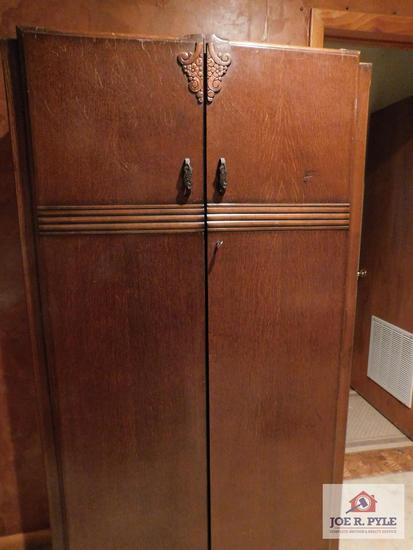 Vintage wardrobe with key