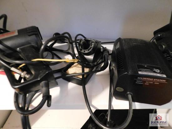 Soldering station and heat gun