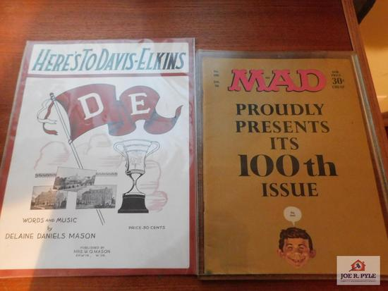 Madd magazine 100th issue January 1966, Davis and Elkins school songbook