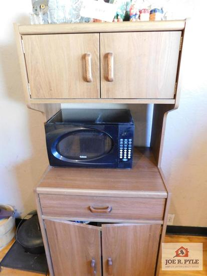Galanz microwave with rolling cart