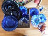 Handcrafted art glass bowls & plates