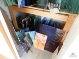 Contents of closet - assorted glass sheets