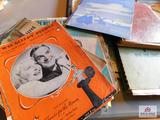 Collection of vintage songbooks