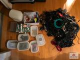 Assorted wires and electronic accessories