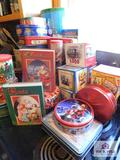 Collection of tins