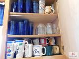 Contents of cabinets - collection of mugs & cups