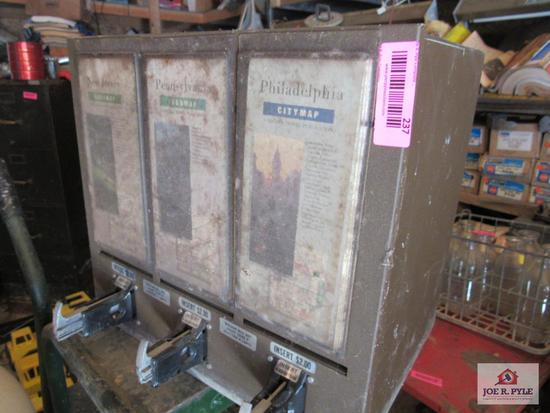 Coin Operated Map Dispenser 'No Key'