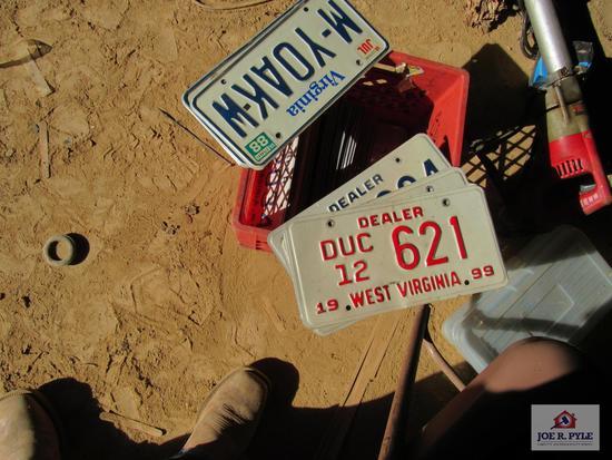 Milk Crate Of License Plates