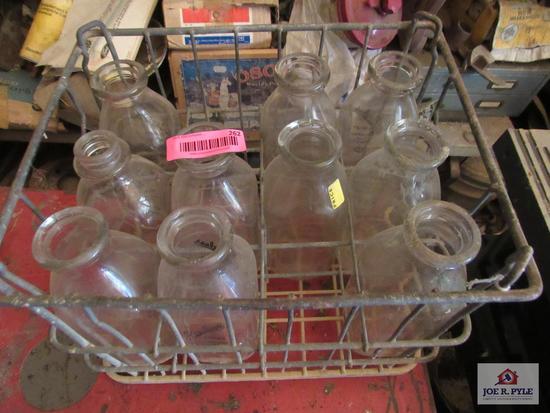 Milk Bottle W Crate