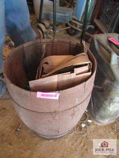 Wooden Barrel W Contents