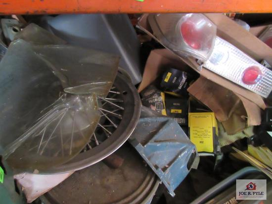 8 Ft Section Of Car Parts and other Misc. Parts