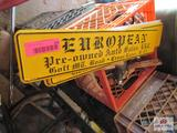 Lot Of 10 European Auto Sales Signs