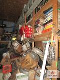 Approx. 12 Ft Long 8 Ft Tall Section Of Car Parts and other Misc. Contents