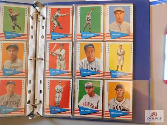 1960 Fleer BB greats lot 150 cards: Ruth, Cobb, Johnson, Ott, Speaker, Waners, Wilson, Traynor,