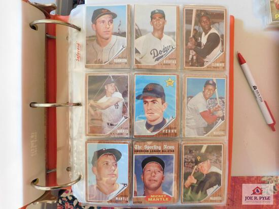 1962 Topps BB 345 different cards: Lots stars, semi-stars, specials, Babe series, etc.