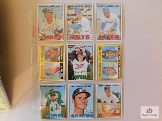 1967 Topps BB 60 different high number cards: Alomar, Monday, White Sox team, Cash, Pinson, Dobson,