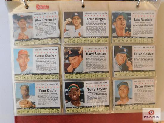 1961-63 Post/Jell-O assortment: mixed baseball and football lot 73 Total Cards