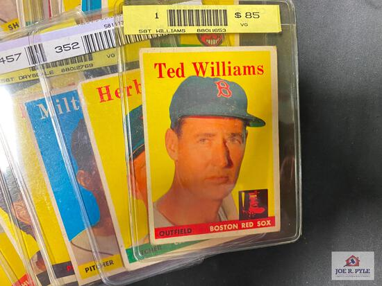 Lot of 20 1958 BB Stars, All-stars, & specials: Aaron, Musial, Banks, Williams, F. Robinson, etc.
