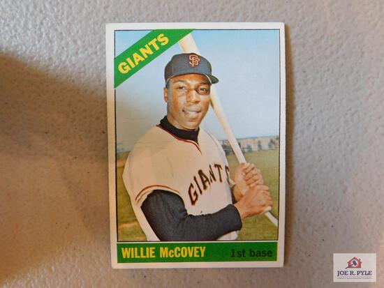 1966 Topps 40 High's: McCovey, Roberts, Clarke, Williams, McLain, Perry, Twins team, G/ Jackson,