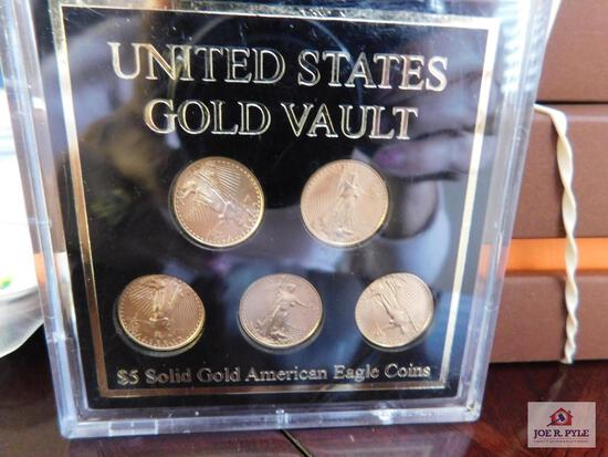 $5 Solid Gold American Eagle coins - 5 pcs