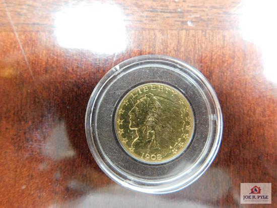1908 Indian Head $2.50 Gold Piece