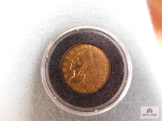 1912 Indian Head $2.50 Gold Piece
