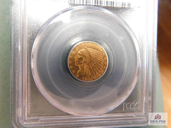 1926 Indian Head $2.50 Gold Piece PCGS MS 63