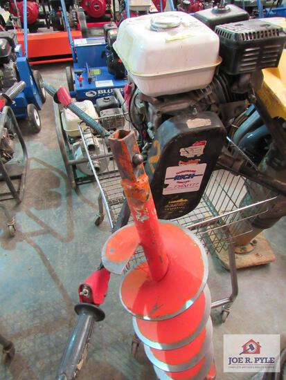 "Gasoline Power Post Hole Digger With 8"" Auger"