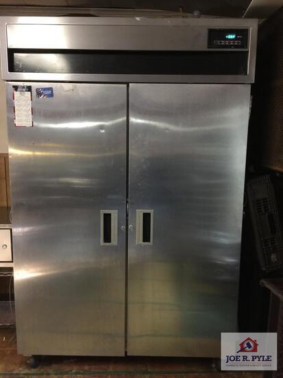 """MC II double door stainless steel freezer 50"""" x 33"""" x 78"""""""