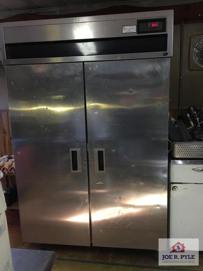 """MC II stainless steel double door refrigerator 50"""" x 33"""" x 78"""""""