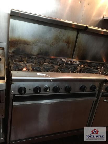 """Six burner gas oven 36"""" x 30"""" x 36"""""""