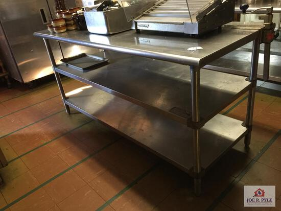 """Stainless steel prep table 72"""" X 30"""" x 36"""""""