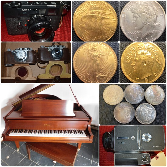 Gold & Silver Coins, Cameras, Jewelry & More