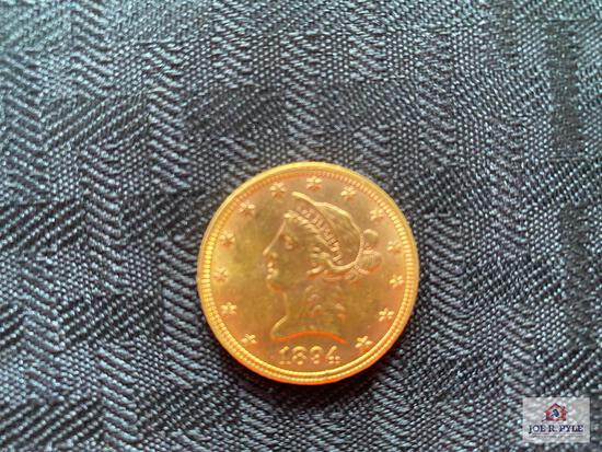 US $10 Liberty Gold Piece (1894)