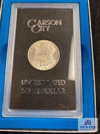 US Morgan Silver Dollar CARSON CITY (1884) (uncirculated in presentation case)