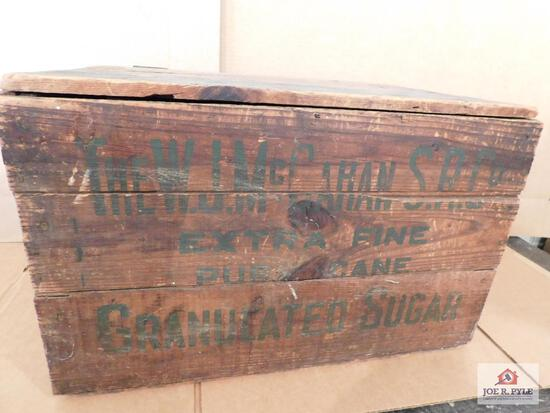 Wooden Crate- The W.J. Mccahan S.R.Co Sugar Crate 23X15X14