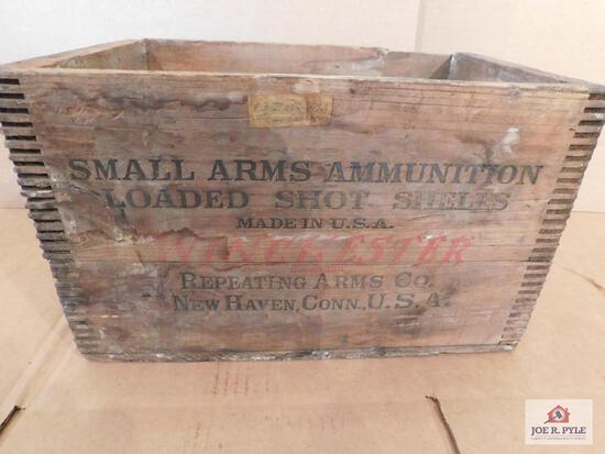 Wooden Ammo Crate- Winchester Repeating Arms Co