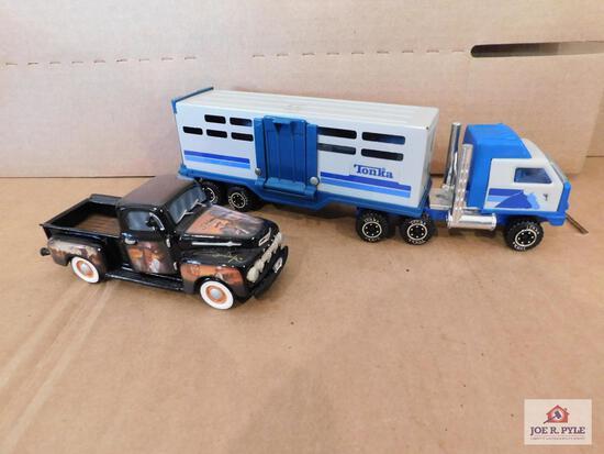 Tonka Truck And A John Wayne 'The Duke' Truck From American Legends No. 1878C