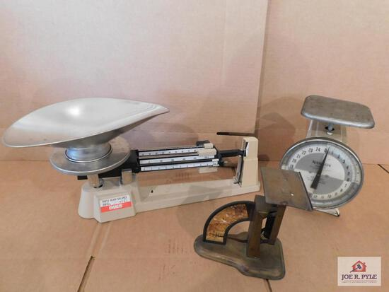 Group Of 3 Scales- Ohaus, Hanson And Liberty Postal Scale