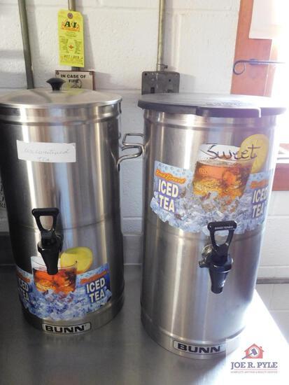 Bunn iced tea dispensers