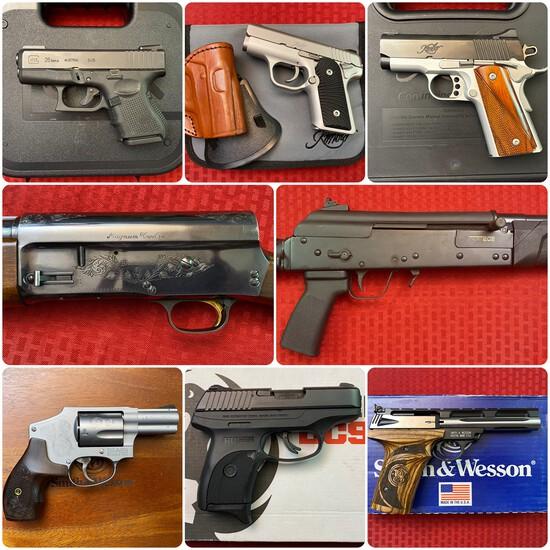 Day 1 of 2 Gun Auction: Firearms