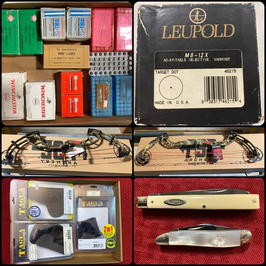 Day 2 of 2 Gun Auction: Bows, Knives, Ammo, & More