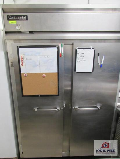 Continental stainless steel 2 door refrigerator 120V
